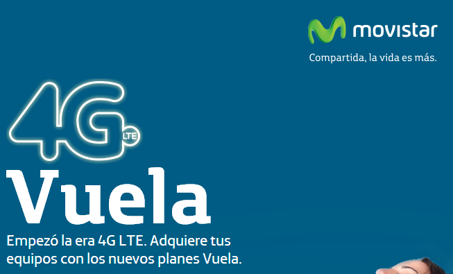 Movistar lanza planes Vuela 4G LTE más baratos con 500MB de descarga