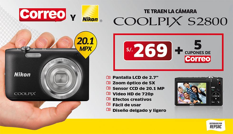 Per compra la c mara de fotos nikon coolpix s2800 a un for Correo la 14