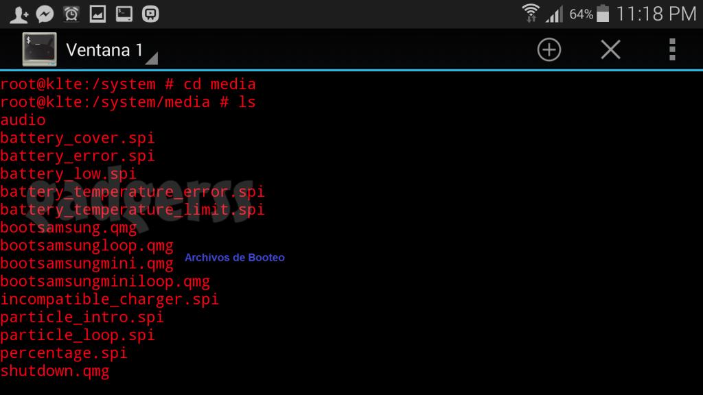 Archivo de booteo de Android