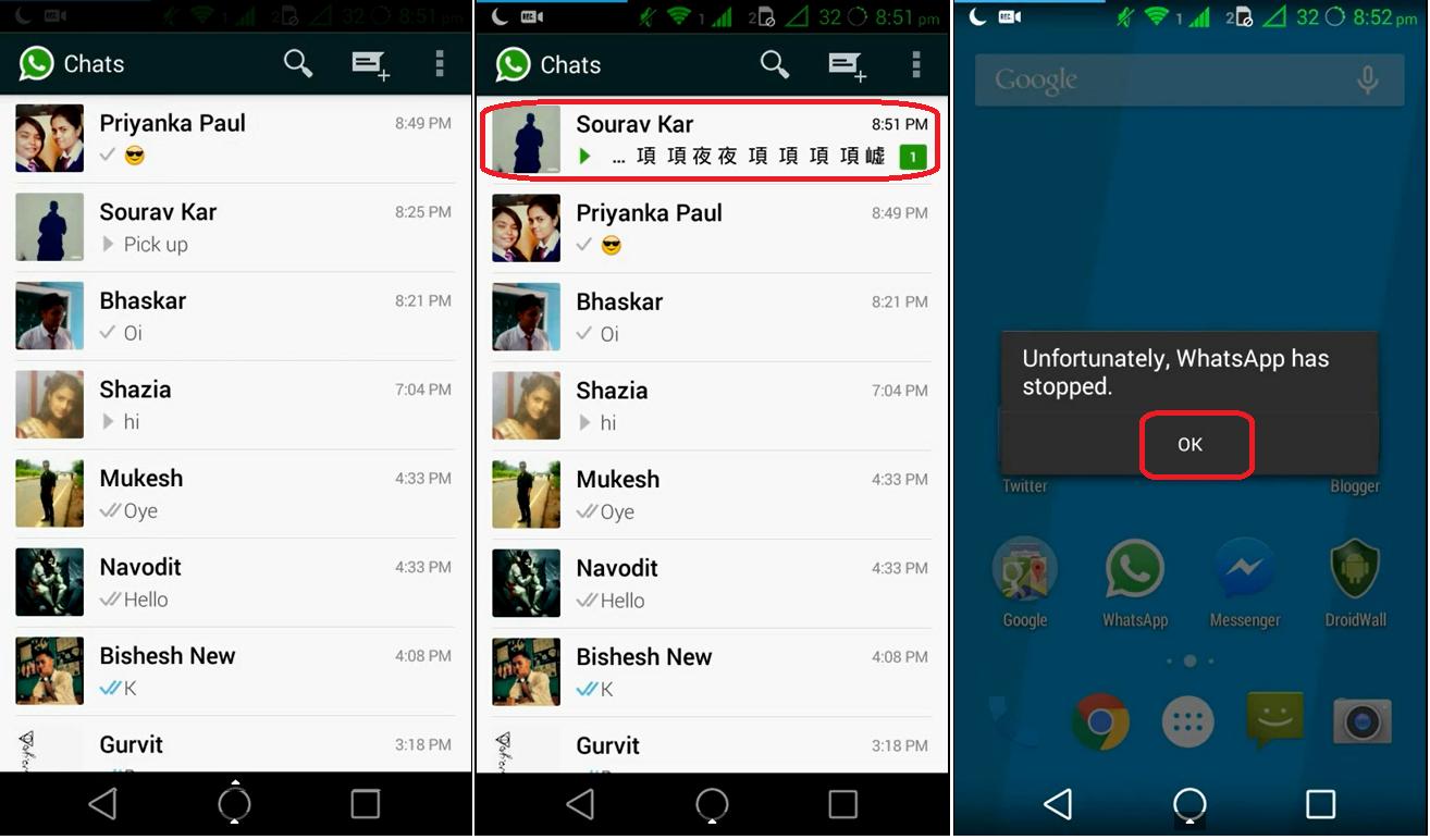 """Tu WhatsApp se puede """"colgar"""" con solo recibir un mensaje"""
