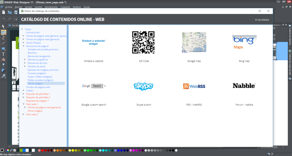 web designer widgets
