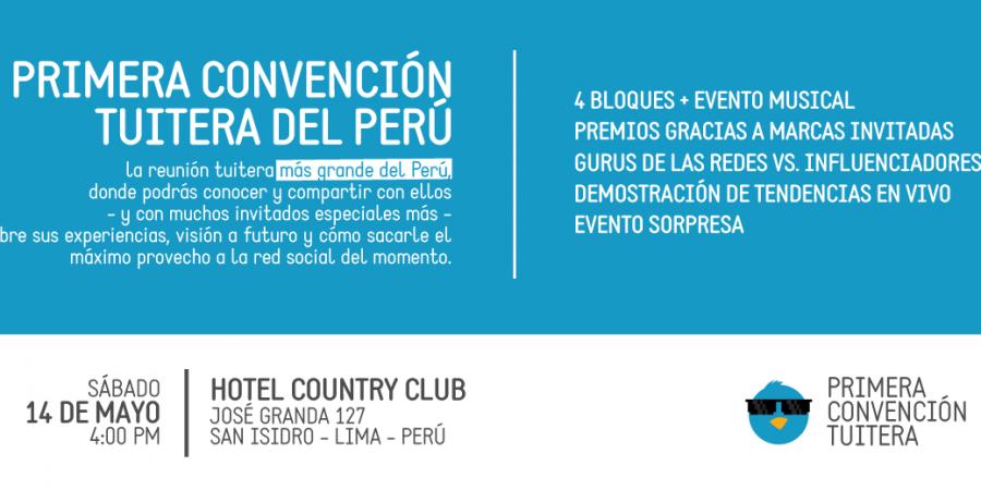 Primera convención tuitera del Perú