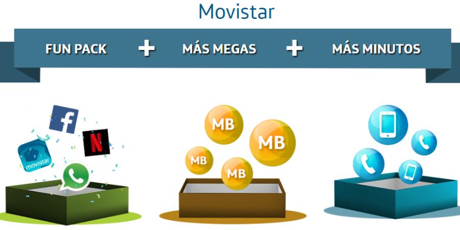 """[Movistar] informa oficialmente las cantidad de Gigas (GB) libres de regalo por cada plan según """"Fun Pack"""""""