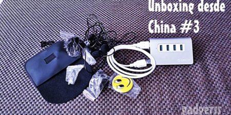 Unboxing desde China # 3: Hub USB de alumunio y micrófono lavalier doble