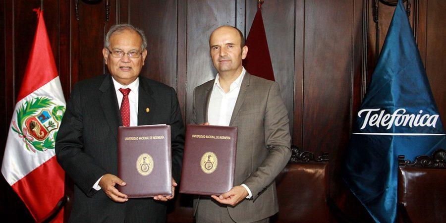 UNI y San Marcos firman convenio con Telefónica I+D para la investigación e innovación tecnológica