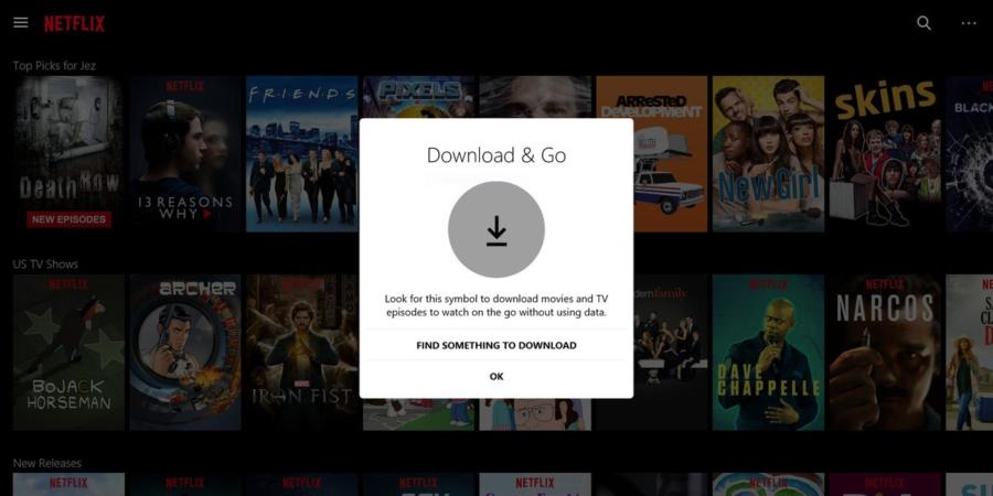 Netflix ya permite descargar contenido para ver offline en su aplicación para Windows 10