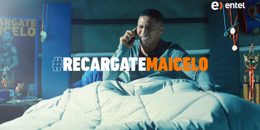"""Entel lanza campaña """"Migra y Recárgate"""" con reconocido boxeador peruano"""
