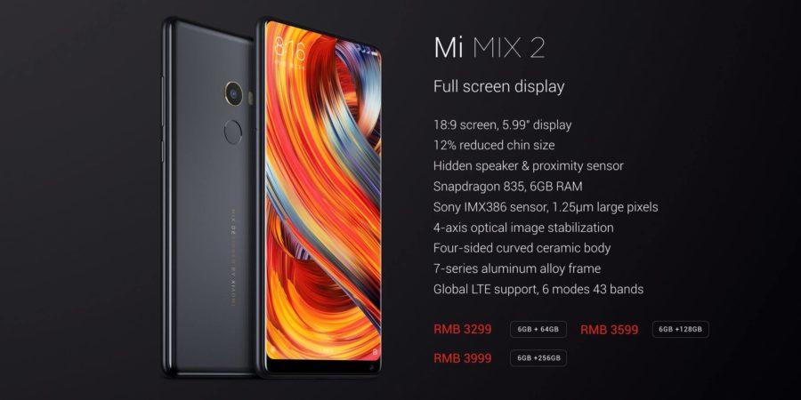 Conoce todas las bandas LTE con las que es compatible el Xiaomi Mi MIX 2