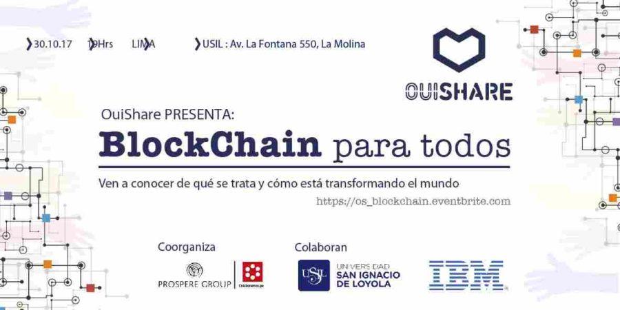 Conferencia gratuita sobre tecnología BlockChain en Perú