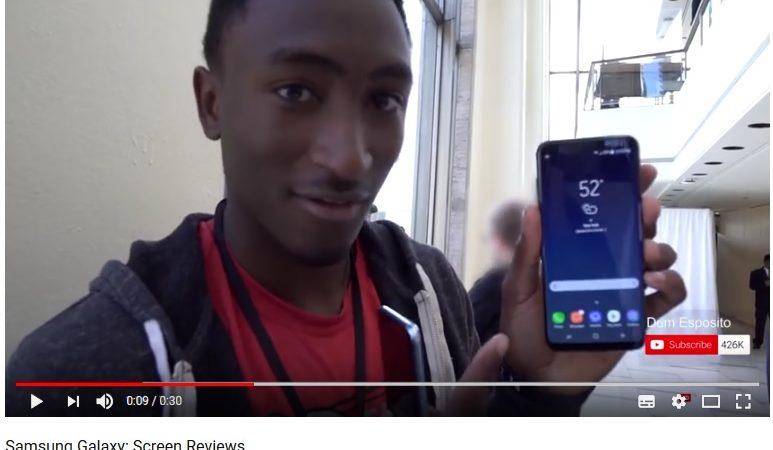 Screen Review: Infinity Display de Samsung  reconocido por Youtubers top de tecnología del mundo