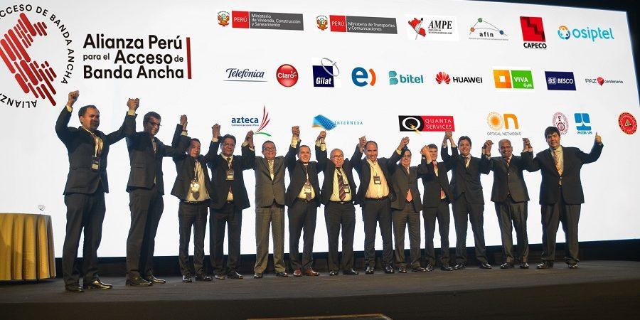 Se firmó la primera alianza nacional para impulsar el acceso de banda ancha en el Perú