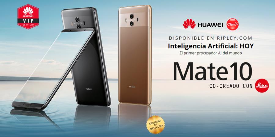 El Huawei Mate 10 Pro ya está a la venta en Ripley Perú