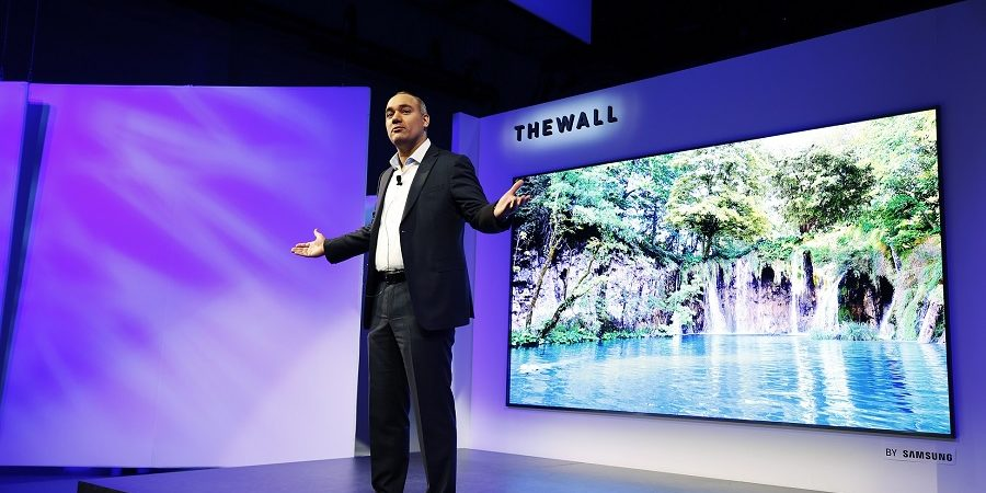 "CES 2018: Samsung presentó ""The Wall"", el primer televisor MicroLED de 146 pulgadas modular del mundo"