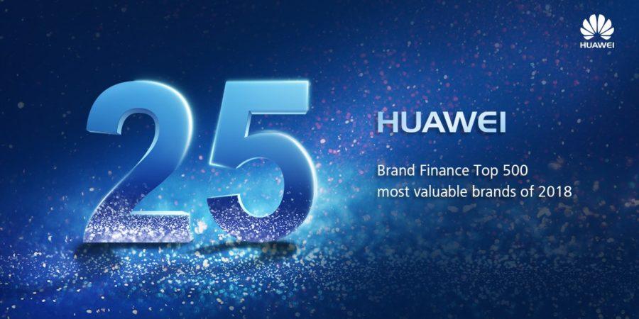 Un gran paso adelante: HUAWEI sube al lugar 25 de la lista Brand Finance Global 500 2018
