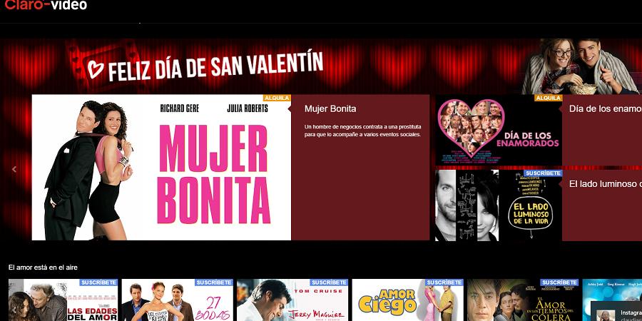 """Celebra el """"Día de San Valentín"""" con lo mejor de Claro Video"""