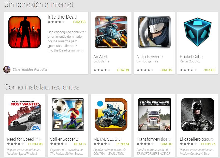 Google Play Ahora Categoriza A Los Juegos Que No Necesitan Conexion