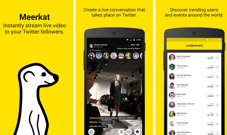 Meerkat Para Android Ya Se Puede Descargar Desde La Play