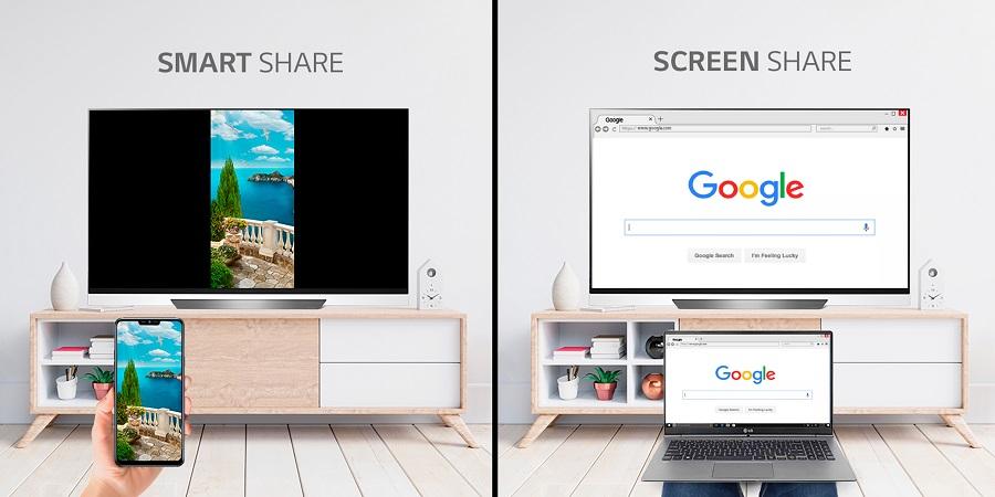 Smart Share y Screen Share: LG explica en qué consisten y